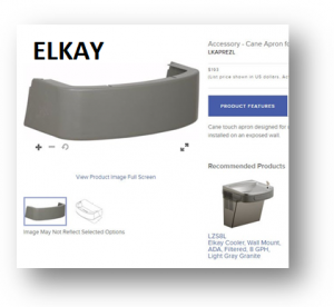 (Title) Elkay Cane Apron